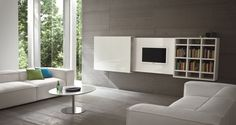 Mobile TV sospeso a scomparsa SLIM 10 By Dall'Agnese design Imago Design Armoires Murales Tv, Window Screen Crafts, Tv Wall Cabinets, Retractable Screen Door, Tv Cabinet Design, Hidden Tv, Screen Design, Living Room Tv, Wall Mounted Tv