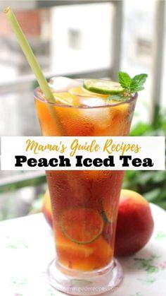 Filipino Recipes, Filipino Food, Peach Ice Tea, Peach Puree, English Breakfast Tea, Canned Peaches, Taste Made, Hibiscus Tea, Fresh Mint