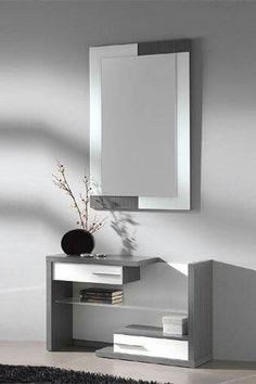 modern console table design ideas with mirror 2019 Bedroom Bed Design, Bedroom Decor, Home Decor Furniture, Furniture Design, Console Design, Dressing Table Design, Entrance Table, Modern Console Tables, Interior Decorating