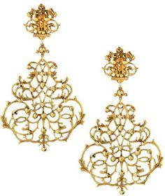 Jose & Maria Barrera Scroll Chandelier Clip Earrings on shopstyle.com