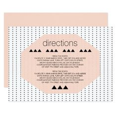 Black and White Geometric Dots Wedding Enclosure Card - invitations custom unique diy personalize occasions