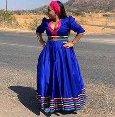 Image may contain: one or more people, people standing and outdoor Pedi Traditional Attire, Sepedi Traditional Dresses, South African Traditional Dresses, African Lace Dresses, Latest African Fashion Dresses, African Print Fashion, African Prints, Seshweshwe Dresses, Plus Size Fashion