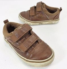 Koala Kids Brown Shoes Toddler Size 7 Velcro Straps #KoalaKids #CasualShoes