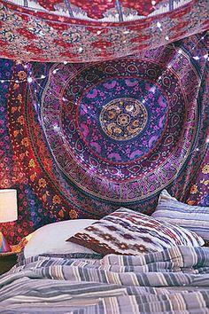 Mandala Colgante De Pared Tapiz Sábanas Manta De Picnic Indio Cobertor Hippie
