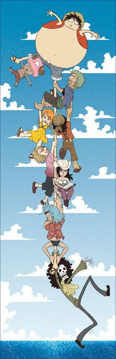 One Piece ~ Luffy, Chopper, Zoro, Nami, Usopp, Sanji, Robin, Franky, and Brook