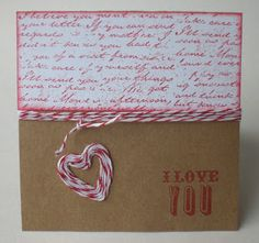 November Rose: Bakers Twine Card