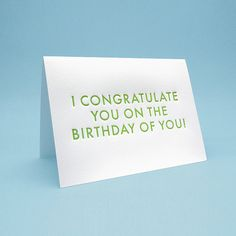 Funny Birthday Card w/ Envelope 5x7 letterpress style by SignFail, $4.50