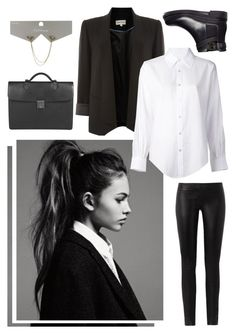 Androgynous Style by vampirexs on Polyvore featuring Crippen, Mary Portas, The Row, Sergio Rossi, Mulberry, Topman, formal, suit and androgynous