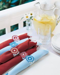 Picnic Napkin Rings  Add sparkle to your table with our easy-to-make napkin rings.  Print the Napkin Ring Designs  How to Make the Picnic Napkin Rings