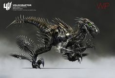 Check out Transformers: Age of Extinction concept art by Wesley Burt ! Transformers 4 features some new Transformers and the stars a. Transformers 4, Transformers Collection, Robot Animal, Arte Robot, Robot Concept Art, Dinosaur Art, Creature Design, Character Design, Creatures