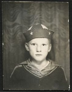 Photo Booth... Selfie 1930's boy with Beanie