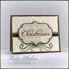 Simple & stunning Christmas card by @Robin Shakoor featuring Zva Creative
