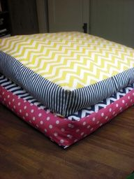 DIY giant floor pillows Great for when friends sleepover or when family  little cousins spend the nights over holiday breaks!