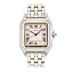 Vintage Cartier Panthere W25028B6 2-Row 18k Yellow Gold & Stainless Steel Watch #Cartier #LuxuryDressStyles