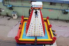 Inflatable Fire Climbing Wall