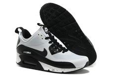 Nike Air Max 90 Shoes Mid No Sew Sneakerboots Ns Black