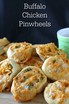 Spicy chicken, jalapeno, and plenty of cheese get wrapped in a buttery pastry to make Buffalo Chicken Pinwheels