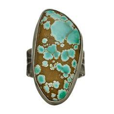 Bague Navajo en argent sertie d'une Turquoise N°8. I Harpo Paris