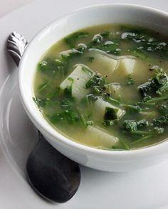 If you've overdone it on the pureed detox soups, try this quick watercress variety. It's high in vitamins A and C as well as iron and fiber, and you'll appreciate the varied textures and flavors of this potato-filled soup. Photo: Lizzie Fuhr