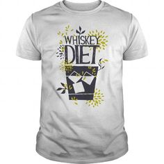 Awesome funny Whiskey Lovers Tee Shirts Gift for you or your family member and your friends:  WHISKEY DIET Tee Shirts T-Shirts
