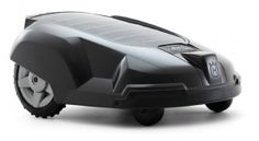 Husqvarna's solar-powered automated robotic lawn mower - can mow up to half an acre unattended. Crazy.