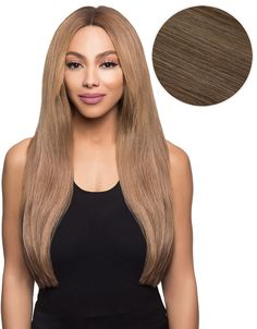 """A beautiful combination of light cocoa and cool beige, this Bambina 20"""", 160g Ash Brown is a gorgeously flattering shade that enhances golden, buttery and ashy brunette hues. Effortlessly luxe, these"""