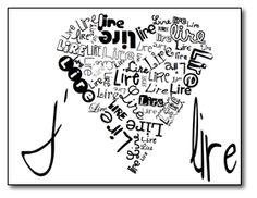 Affiche J'♥ lire