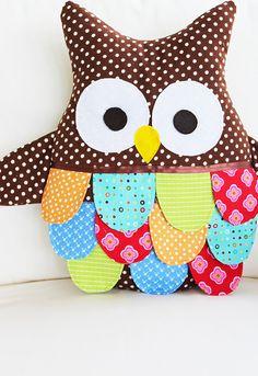 Owl Sewing Pattern - Owl Pillow Pattern - Large Owl PDF Pattern. $10.00, via Etsy.