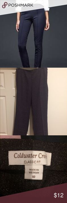 Side zip slacks Gray cold water creek side zip pants.  Cover photo for idea of fit only. Coldwater Creek Pants Ankle & Cropped
