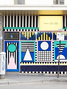 Greville Street, Prahran Melbourne Wall Mural by Camille Walala