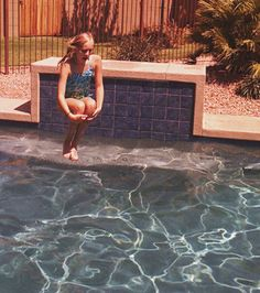 Jumping in a pool. awesome.