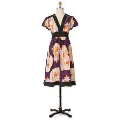"""Anthropologie """"Chabana Dress"""" By Corey Lynn Calter. Silk. Gorgeous colors, pattern and cut. Ties in back. Anthropologie Dresses"""