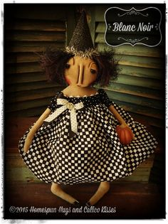Halloween Witch by Homespun Hugs and Calico Kisses Primitives