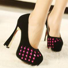 ENMAYER 2014 new fashion sexy wedding woman platform ultra high heels pumps and women's bridal shoes $67.16