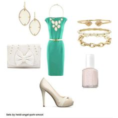 Love this color schedule and outfit! (Stella & Dot Fiona bib necklace and earrings, Christina Link bracelet, Julep bangle in Ivory and the Eden bangle).