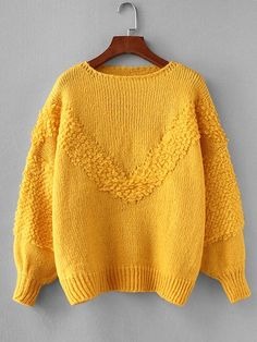 To find out about the Drop Shoulder Balloon Sleeve Jumper at SHEIN, part of our latest Sweaters ready to shop online today! Sweater And Shorts, Jumpers For Women, Sweater Weather, Pulls, Types Of Sleeves, Knitwear, Knitting Patterns, Autumn Fashion, Creations