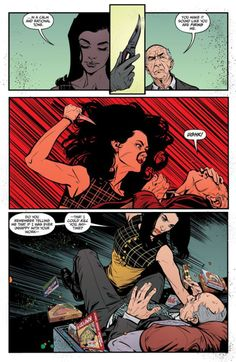 """comixology: """"LADY KILLER 2 new partnership begins to sour when an over-the-top gift brings trouble for Gene. Comic Book Layout, Comic Book Pages, Comic Books Art, Graphic Novel Art, Graphic Design Art, Bd Pop Art, Bd Comics, Collor, Comic Panels"""