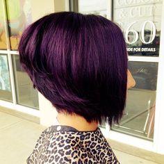 #bob #purple hair