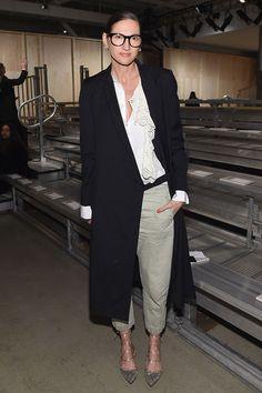 Дженна Лайонс на показе DKNY