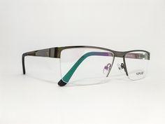 Óculos Grande ArmaçãoMetal Masculino Tamanho 57 Grafite