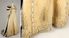 charles frederick worth dress | Charles Frederick Worth Court Presentation Gown French, late 1800 The ...