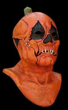 pumpkin head full head horror mask halloween