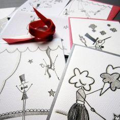 Big Top Stationery, Set of 8 Blank Notecards- LOinLONDON® fine paper goods + whimsical design | www.loinlondon.com