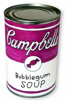 Art Projects for Kids. Andy #Warhol Pop art project. Design your own soup label and wrap it on a real can. Free PDF template.
