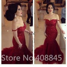 Elegant Dark Red Formal Long Mermaid Evening Dresses Off Shoulder Sexy Backless Pageant Prom Gowns Party Dress robe de soiree