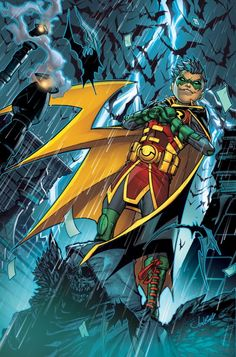 Dc Comics Rebirth: Teen Titans Damian Wayne By Jonboy Meyers - Visit to grab an amazing super hero shirt now on sale! Nightwing, Batwoman, Batgirl, Dc Rebirth, Titans Rebirth, Damian Wayne, Batman Family, Batman And Superman, Batman Robin