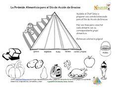 Día De Fiesta 11 Página Para los Niños de Colorear y Emparejar los Alimentos del Día de Acción de Gracias