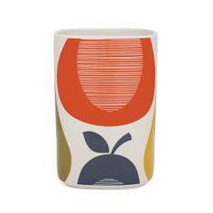 Bring retro charm to your home with this Pear utensil pot from Orla Kiely. Beautifully handmade from earthenware it features a chic pear pattern in brown, orange, green & yellow hues. The stylish w...