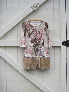Boho dress ML Mini dress Boho tunic Bohemian dress by ShabyVintage, $44.90