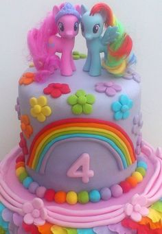 My Little Pony Birthday Cake Ideas My Little Pony Cake With Sprinkles Little Girl Inspired. My Little Pony Birthday Cake Ideas My Little Pony Birthday Cakes Ideas Cake Photo Ideas Geburtstag. Little Girl Birthday Cakes, 4th Birthday Cakes, Novelty Birthday Cakes, Birthday Ideas, Little Girl Cakes, Princess Birthday, Rainbow Dash Cake, Rainbow Theme, Fete Emma